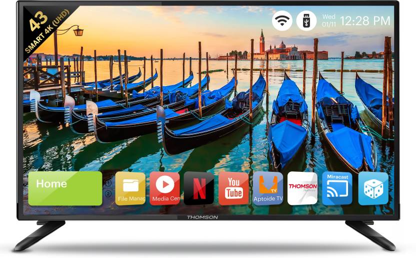 Thomson (43 inch) Ultra HD (4K) LED Smart TV -Best TV under 30000