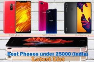 best phones under 25000 in india