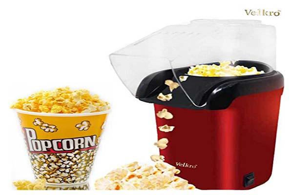 Krevia Red Hot Air Popcorn Maker Popper